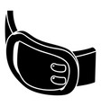 double buckle belt icon simple style vector image vector image
