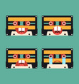 emotion icon tape cassette flat design vector image vector image