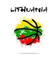 Flag of Lithuania as an abstract basketball ball vector image