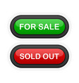 for sale or sold out green or red realistic 3d