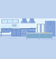 functional modern commercial kitchen layout design vector image