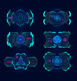 futuristic virtual screen hud technology frame vector image