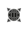 global gps icon - navigation travel symbol vector image vector image