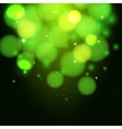 green magic light background vector image vector image