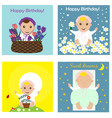 greeting card collection with babies vector image