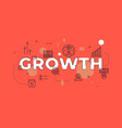 growth text concept modern flat style vector image
