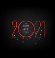happy new 2021 year logo holiday with digits vector image
