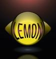 horizontal glass lemon purple text logo vector image vector image