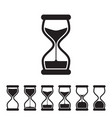 hourglass collection vector image vector image