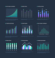infographic elements data visualization graphs vector image