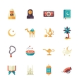 Islamic culture icons set vector image