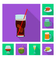 isolated object of drink and bar symbol vector image vector image
