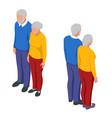 isometric senior couple seniors isolated on white vector image vector image