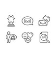 like share mail and winner icons set smile vector image vector image