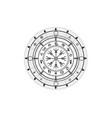 magic vegvisir compass earth zodiac sign wheel vector image vector image