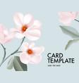 magnolia seasonal flower arrangements botanical vector image vector image