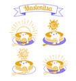 maslenitsa set icons vector image vector image