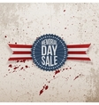 Memorial Day Sale textile Badge and Ribbon vector image vector image