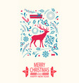 merry christmas and happy year vector image