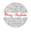 merry christmas banner with holidays festive vector image