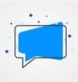 modern chat bubble icon flat style social media vector image