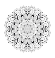 Monochrome lace pattern background vector image