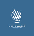 music world logo vector image vector image