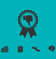 not recommended award icon flat vector image