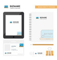 online shopping business logo tab app diary pvc vector image vector image