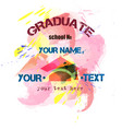 pink print to prom or graduate vector image vector image