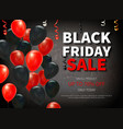 realistic black friday background vector image vector image