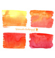 red and orange watercolor banner vector image