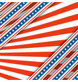 red and white raysthe colors of the flag vector image vector image