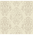 Retro beige vintage floral seamless pattern vector image vector image