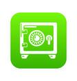 safe icon green vector image