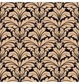 seamless pattern beige floral arabesque motifs vector image vector image