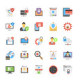 set internet security icons in flat design vector image