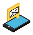 Sms isometric icon vector image vector image