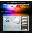 stylish web developing vector image vector image