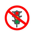 traffic light ban icon vector image