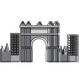 triumphal arch of barcelona spain site history vector image