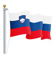 waving slovenia flag isolated on a white vector image