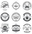 Set of Custom Car and Bike Garage Label and Badge vector image