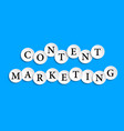 content marketing inscription composed of paper vector image