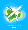 summer vacation flat style web banner vector image