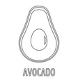 avocado icon outline style vector image vector image