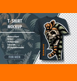 beautiful template for t-shirt with skull of vector image vector image