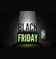 black friday 50 percent offer banner vector image vector image