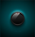 black glossy interface button for volume control vector image vector image