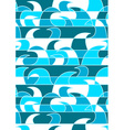 Blue abstract waves in a repeat pattern vector image vector image